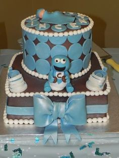 baby shower ideas on pinterest cookie monster cakes cookie monster