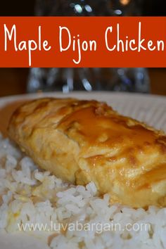 Maple Dijon Chicken - 3 ingredients for this yummy clean eating recipe