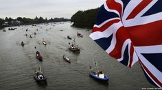 Pleasure boats of all shapes and sizes muster on the River Thames