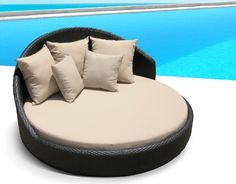Outdoor Wicker Patio Furniture Pool Lounge All Weather Round Double Bed Set by Cassona Outdoor living. $990.00. Washable Zippered Cushion Covers. Powder Coated Aluminum Frame. No Maintenance Required. Hand Woven with UV Eco Friendly Weather Wicker. This outstanding outdoor lounger is built with excellent quality materials to last; it is assembled by professionals with:  * Powder coated aluminum frame. * Seating strap support system. * Hand woven with UV Eco Friend...