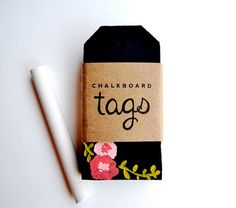 reusable chalkboard gift tags