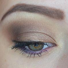 smokey eyes with purple liner