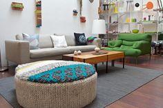 knit ottoman
