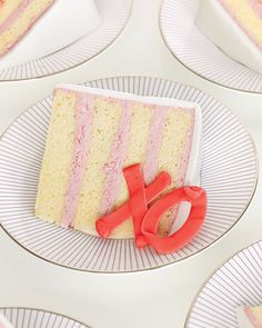 Embellish a layer cake with royal icing X's and O's for Valentine's Day.