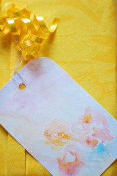 Free Printable: watercolor gift tags