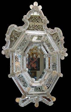 Fabulous Antique Murano Venetian Mirror