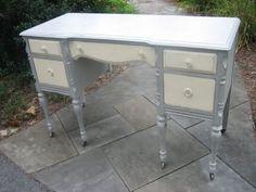 repainted vanity turned to desk