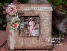 @Debbie Cole has created this gorgeous picture frame for the @Clearsnap Inkpads blog! It features #Stampendous Seed Packet background stamp, some of Debbie's own designed papers, and Clearsnap inks!