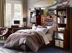 teen bedrooms, boy bedrooms, boy rooms, teen boys, platform beds, shelv, guy stuff, bedroom designs, teenage bedrooms