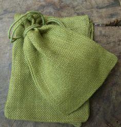 Moss Green Jute Bags 5x7 Size (12 bags/pkg ) $7.99 pkg/ 3 for $7 pkg