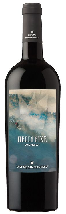 Save Me San Francisco Wine Co.  Hella Fine Merlot