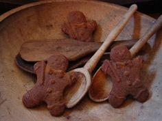 Grubby Cheery Gingerbread Men 100 Beeswax by prairieantiques, $5.95