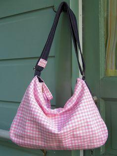 pink gingham bag