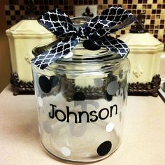 cricut idea, person cooki, homemad cooki, cooki jar, christma idea, diy cookie jars, diy craft, cjc idea, gift idea