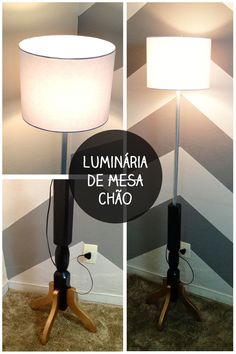 Casa de Colorir: Luminária de Piso - Meu primeiro achado no lixo