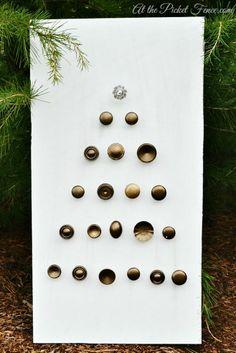 Re-Purposed Cabinet Knobs Christmas Tree