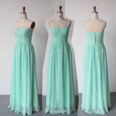 Bridesmaid Dresses - Mint Bridesmaid Dress /Cheap Bridesmaid Dress / Long Prom Dress / Mint Prom Dresses
