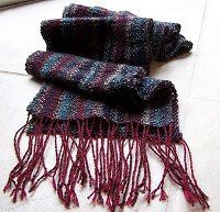 Linen Stitch Scarf | AllFreeKnitting.com wines, linens, knit, scarves, linen stitch, stitch scarf, stitches, olives, scarf patterns