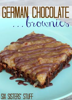 German Chocolate Brownies from SixSistersStuff.com