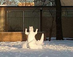 Snow Dragon - created by the students at Illinois Institute of Technology #IIT #illinoisinstituteoftechnology www.iit.edu