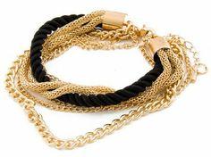 Bransoletka z łańcuszkami złota
