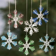 Set of 6 Snowflake Ornaments from Through the Country Door®