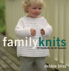 Family Knits from St. Martin's Griffin: From bestselling author Debbie Bliss comes a collection of 25 handknit designs that celebrate making time for family and friends. Family Knits presents beautiful projects to suit every season and taste: from children's cardigans and pullovers to sophisticated cabled cardigans and lacey pullovers to scarves and hats for both adults and children. Featuring projects for knitters of every skill level, but always with an emphasis on stylish pieces that are c...