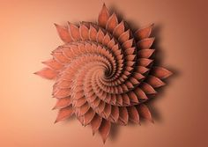 """Fractals.  by Matt Walford  """"This series of still life images are based on 'Fractals' which are...Rough or fragmented geometric shapes that can be split into parts, each of which is approximately a reduced-size copy of the whole....  They were made using natural leaves and flowers, to create these naturalistic geometric patterns."""""""