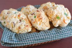 Bacon Cheddar Drop Biscuits - to veganize