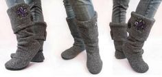 Neat little sweater boots