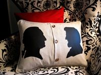 Awesome Presidents Pillows with real penny buttons
