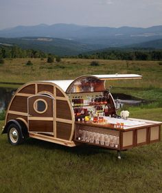 [Bulleit Woody Tailgate Trailer, $150,000] Tailgating will never be the same after you roll up with the Bulleit Frontier Whiskey Woody-Tailgate Trailer.