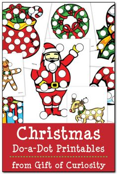 dot marker, doadot printabl, christmas printables, christma doadot
