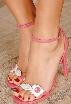 Pink sexy high heels - could never wear, but love them.