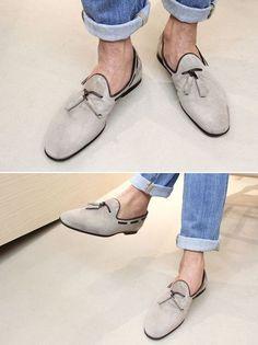 fashion, sued shoe, santoni shoes, electronic cigarettes, denim, tassels, cuffs, men slippers, eyes