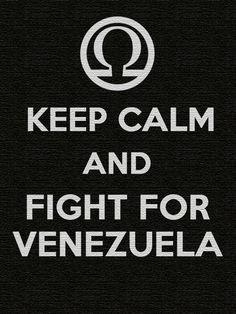 Venezolanos en el mundo tengan calma y luchen por Venezuela....Fight For Venezuela...