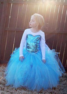 Queen Elsa Costume Tutu Leotard
