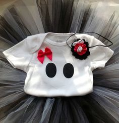 Girls Ghost Halloween outfit babys first Halloween by SDKCreations, $35.50