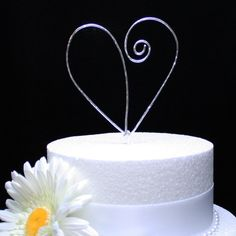 Wedding Wire Cake Topper Heart Cake Topper Cake by BlissfullyWired, $12.00