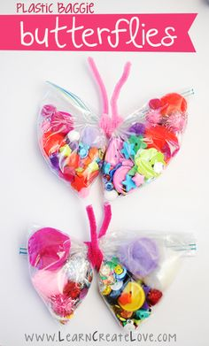 Plastic Baggie Butterfly Craft