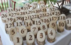 Log Table Numbers for your Rustic Wedding Spring by naturallyaspen, $9.00