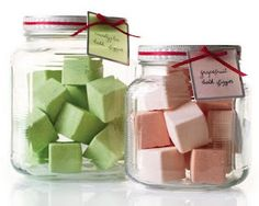 DIY gifts - scented bath fizzes