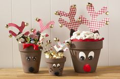 Clay pot reindeer