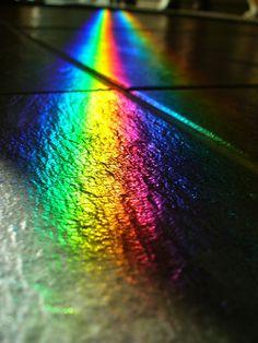 Black slate, twin rainbows by Velvet Android, via Flickr