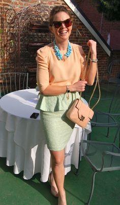 mint green peplum skirt, must have!