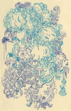 Nervosa by James Jean. this is a beautiful