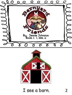 Sight word farm book (free!)