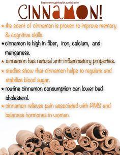 I love cinnamon.