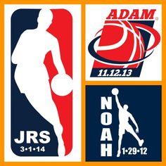 Basketball Themed Bar Mitzvah Logos by PARTY FAVORITES #barmitzvah #barmitzvahlogo