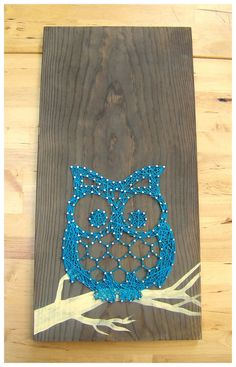 Owl- String art and paint